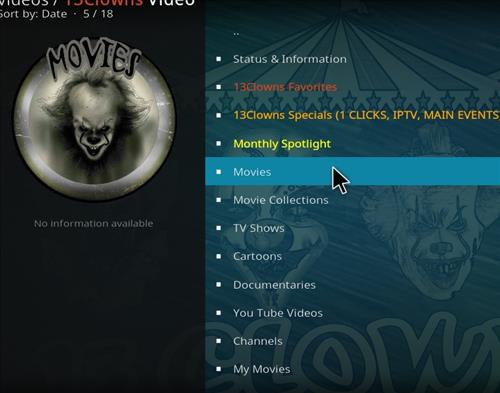 How to Install 13 clowns Video Kodi 18 Leia Add-on pic 2