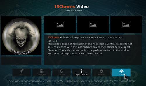 How to Install 13 clowns Video Kodi 18 Leia Add-on step 18