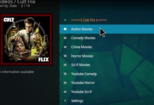 How to Install Cult Flix Kodi 18 Leia Add-on pic 2
