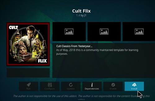 How to Install Cult Flix Kodi 18 Leia Add-on step 18