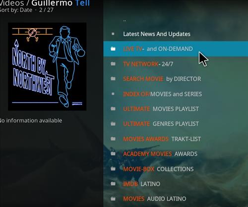 How to Install Guillermo Tell Kodi 18 Leia Add-on pic 2
