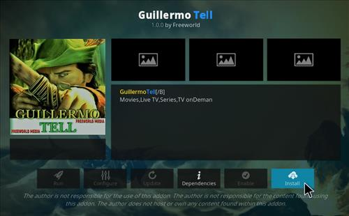 How to Install Guillermo Tell Kodi 18 Leia Add-on step 19