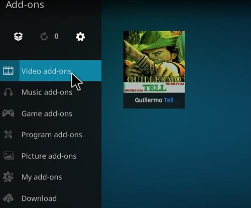How to Install Guillermo Tell Kodi 18 Leia Add-on step 22