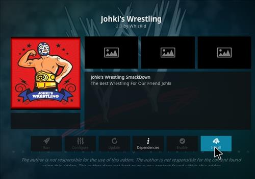 How to Install Johkis Wrestling Kodi 18 Leia Add-on step 19
