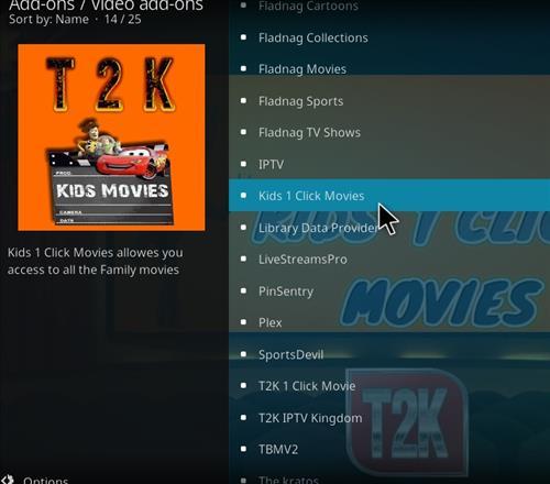 How to Install Kids1 Click Movies Kodi 18 Leia Add-on step 17