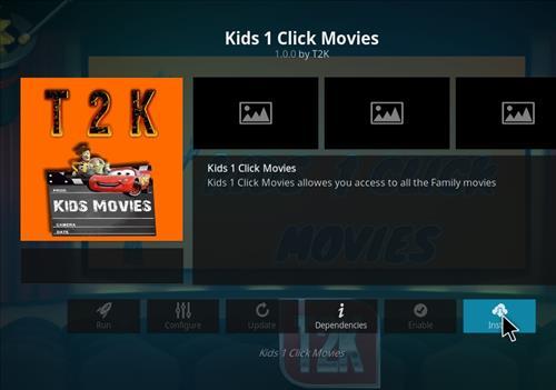 How to Install Kids1 Click Movies Kodi 18 Leia Add-on step 18