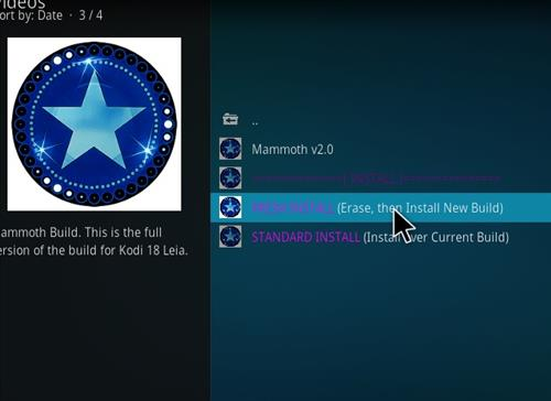 How to Install Mammoth Kodi 18 Build Leia step 17