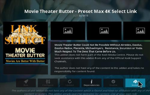 How to Install Movie Theater Butter Kodi 18 Leia Add-on step 19