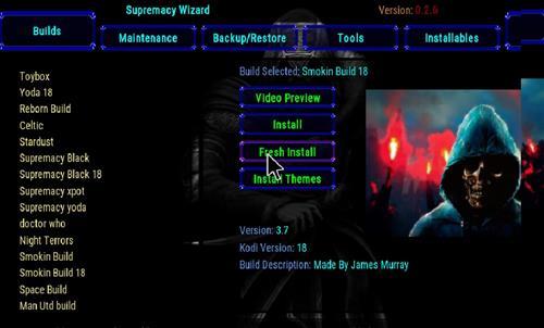 How to Install Smokin 18 Kodi Build Leia step