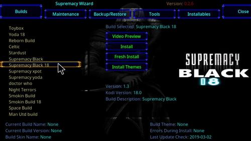 How to Install Supremacy Black 18 Kodi Build Leia step 23