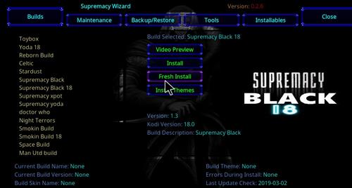 How to Install Supremacy Black 18 Kodi Build Leia step 24