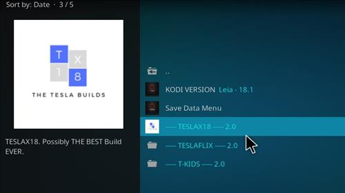 How to Install Teslax18 Kodi Build 18 Leia step 16