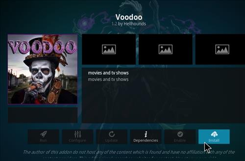How to Install Voodoo Kodi 18 Leia Add-on step 18