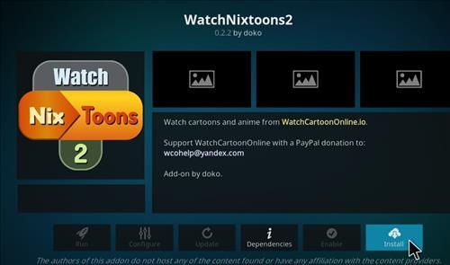 How to Install WatchNixtoons2 Kodi 18 Leia Add-on step 18