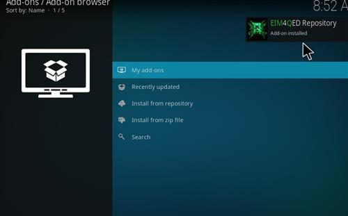 How to Install 4Qed Filters Kodi 18 Leia Add-on step 13