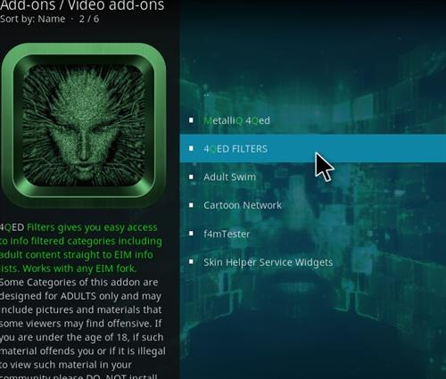 How to Install 4Qed Filters Kodi 18 Leia Add-on step 17