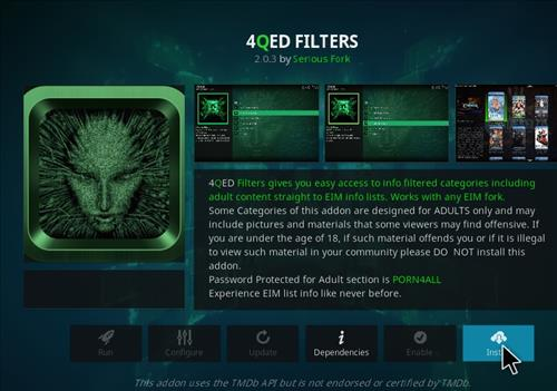 How to Install 4Qed Filters Kodi 18 Leia Add-on step 18