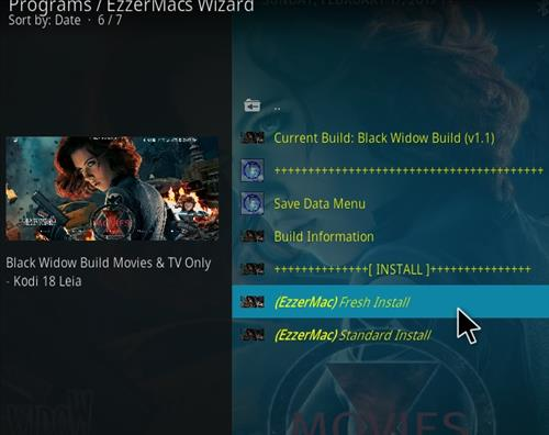 How to Install Black Widow Kodi 18 Build Leia step 25