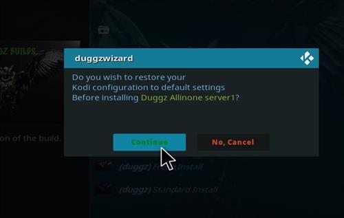 How to Install Duggz All in one Kodi 18 Build Leia step 19