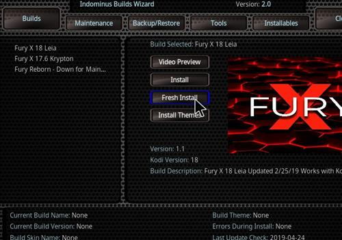 How to Install Fury- X 18 Kodi Build Leia step 17