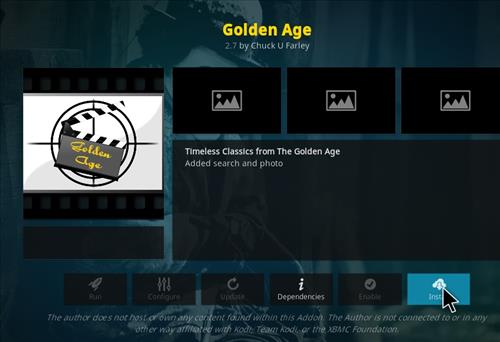 How to Install Golden Age Kodi 18 Leia Add-on step 19