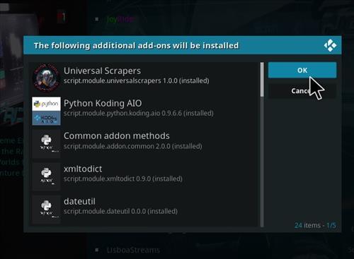How to Install JoyRide Kodi 18 Leia Add-on step 20