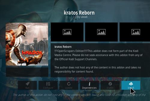 How to Install Kratos Reborn Kodi 18 Leia Add-on step 18
