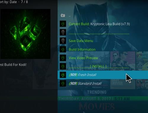 How to Install Kryptonic Kodi 18 Leia Build step 17