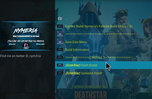 How to Install Nymeria's Fortnite Kodi 18.1 Build Leia step 25
