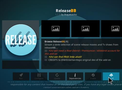 How to Install Release BB Kodi 18 Leia Add-on step 18