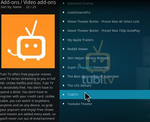 How to Install TUBITV Kodi 18 Leia Add-on step 18