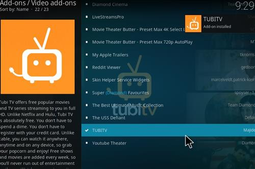 How to Install TUBITV Kodi 18 Leia Add-on step 20
