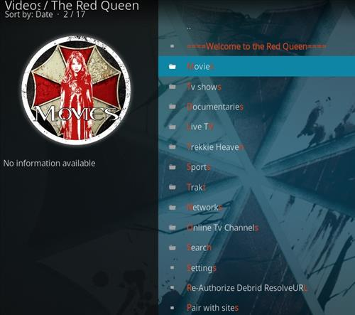 How to Install The Red Queen Kodi 18 Leia Add-on pic 2