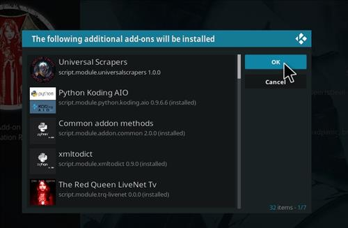 How to Install The Red Queen Kodi 18 Leia Add-on step 19