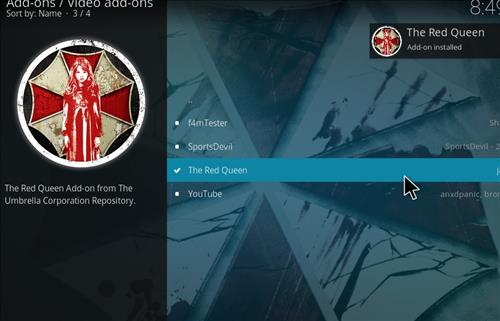 How to Install The Red Queen Kodi 18 Leia Add-on step 20