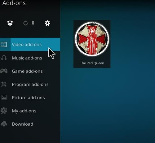 How to Install The Red Queen Kodi 18 Leia Add-on step 21