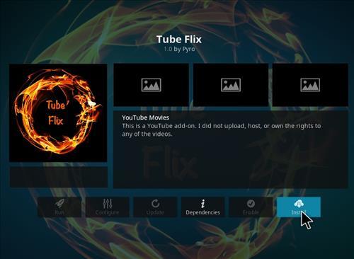 How to Install Tube Flix Kodi 18 Leia Add-on step 18
