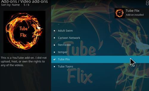 How to Install Tube Flix Kodi 18 Leia Add-on step 20