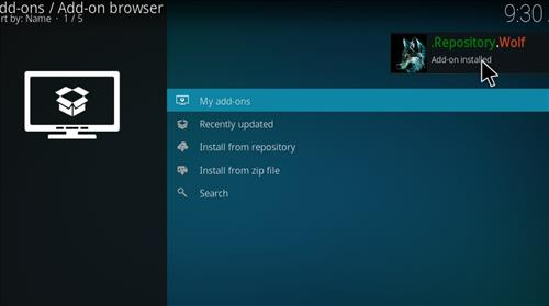 How to Install Wolf Kodi 18 Leia Add-on step 13
