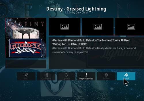 How to Install Destiny-Greased Lightning Kodi 18 Leia Add-on