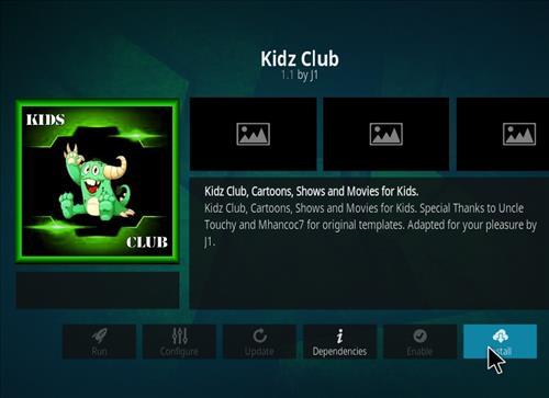 How to Install Kidz Club Kodi 18 Leia Add-on step 18