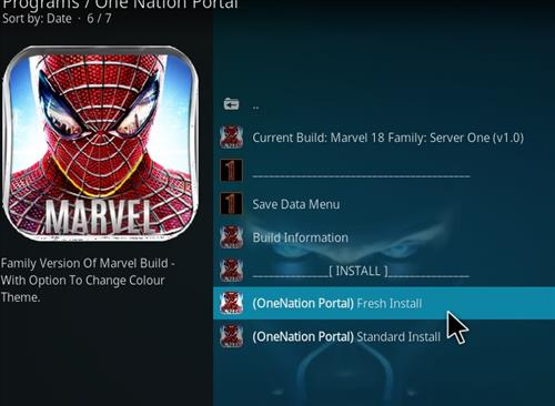 How to Install Marvel 18 Family Kodi Build Leia step 18