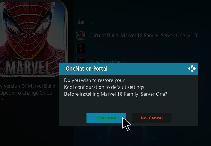 How to Install Marvel 18 Family Kodi Build Leia step 19