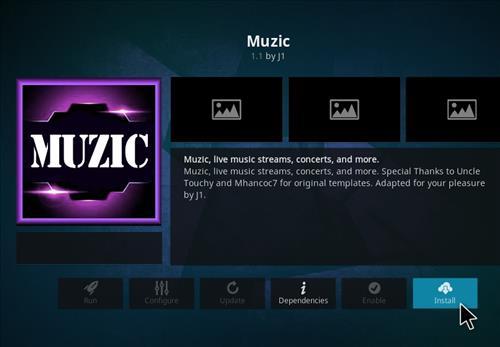 How to Install Muzic Kodi 18 Leia Add-on step 18