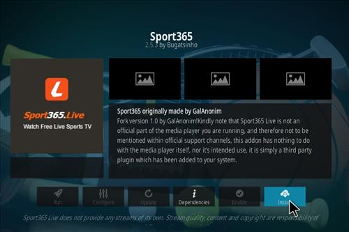 How to Install Sport365 Kodi 18 Leia Add-on step 18