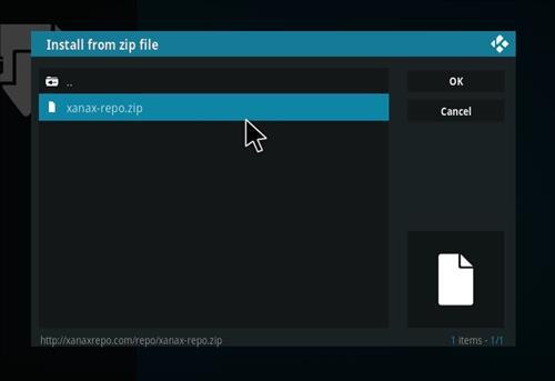 How to install Xanax Build on Kodi 18 Leia step 12