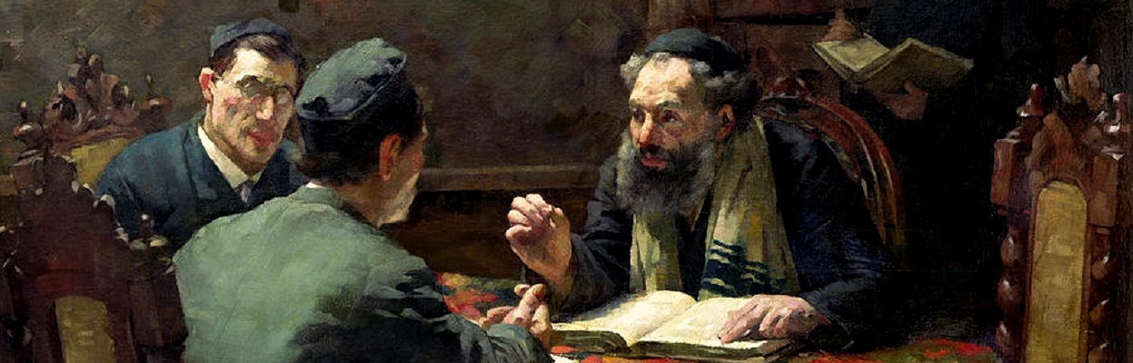 A theological debate (1901) - Eduard Frankfort.