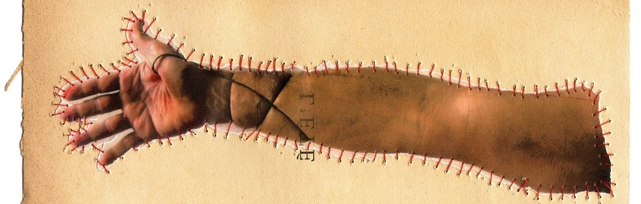 "Gilvan Barreto, ""Arm,"" Sutures series, 2015, from the book ""Sobremarinhos,"" 100 cm x 66 cm, mineral pigment print on cotton paper."