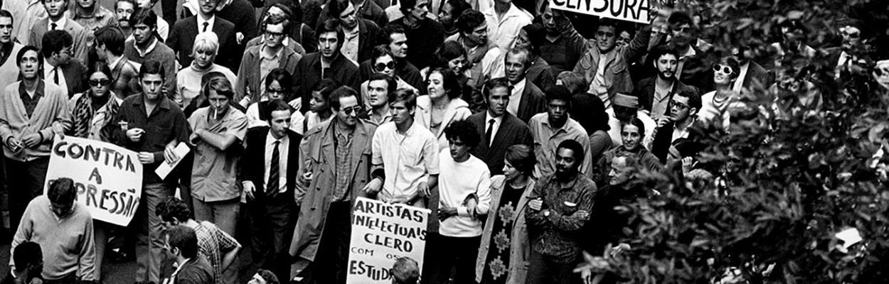 texto de imagem - Passeata dos 100 mil – Junho de 1968