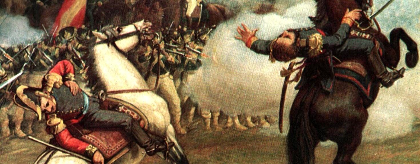 Fragmento de la Batalla de Carabobo. Oleo sobre tela. Palacio Federal Legislativo, Caracas – Venezuela – by Martín Tovar y Tovar (1827 - 1902).